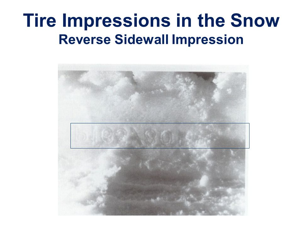 Tire Impressions in the Snow Reverse Sidewall Impression