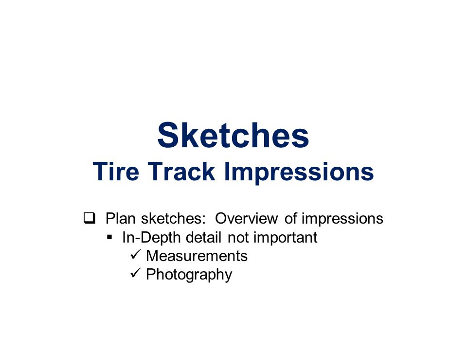 Sketches Tire Track Impressions