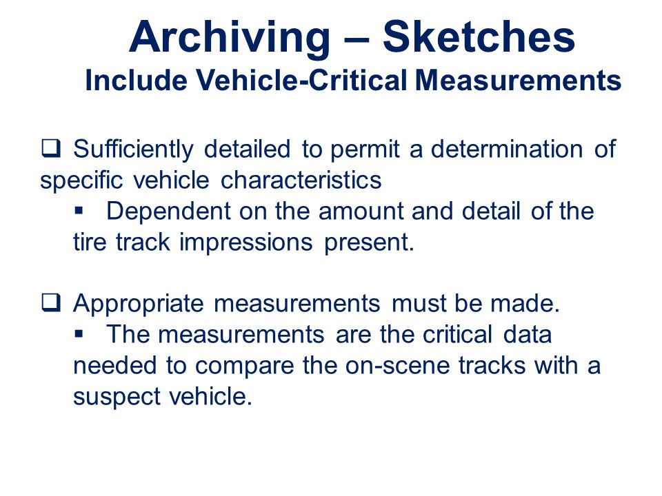 Include Vehicle-Critical Measurements