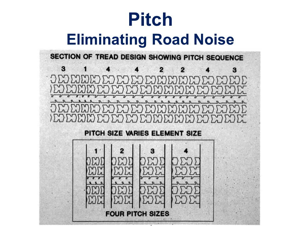 Pitch Eliminating Road Noise