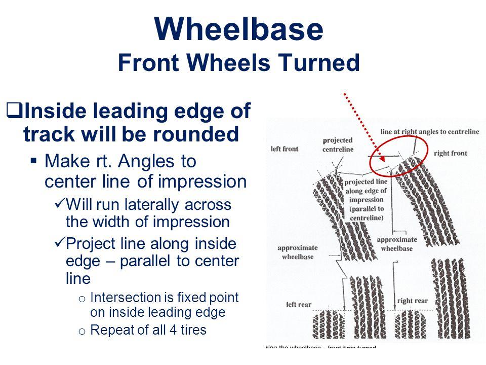 Wheelbase Front Wheels Turned