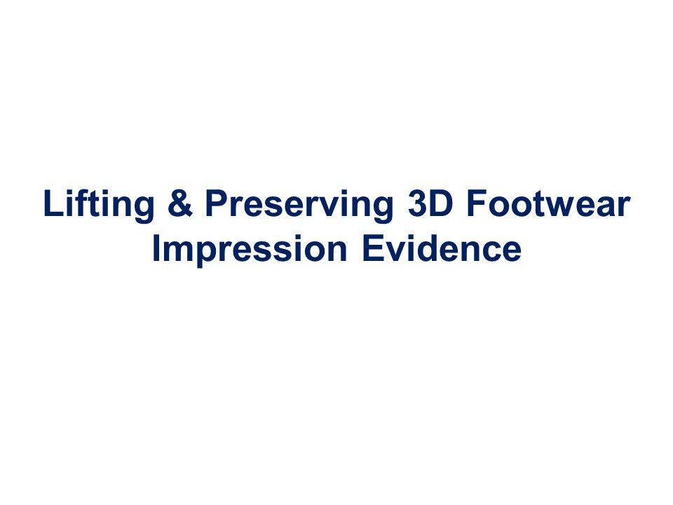 Lifting & Preserving 3D Footwear Impression Evidence