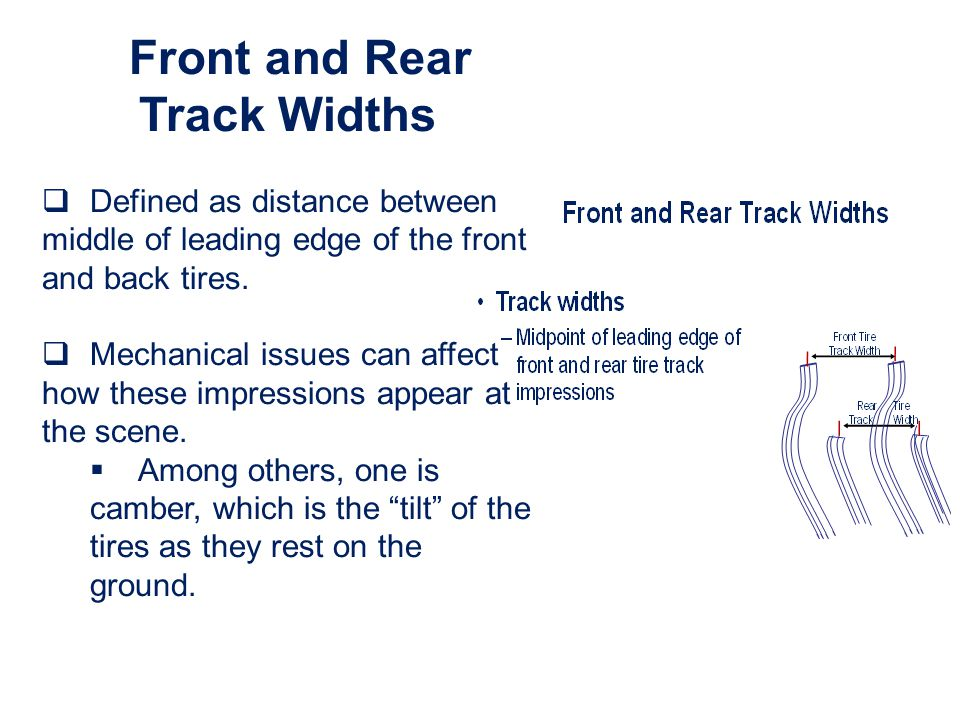 Front and Rear Track Widths