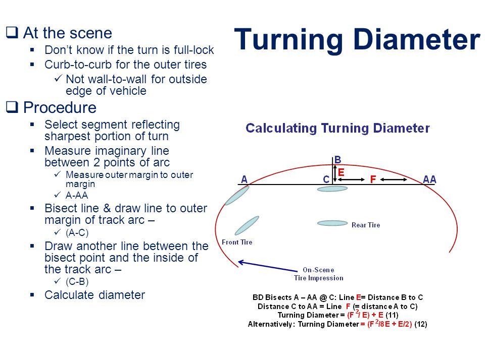 Turning Diameter At the scene Procedure