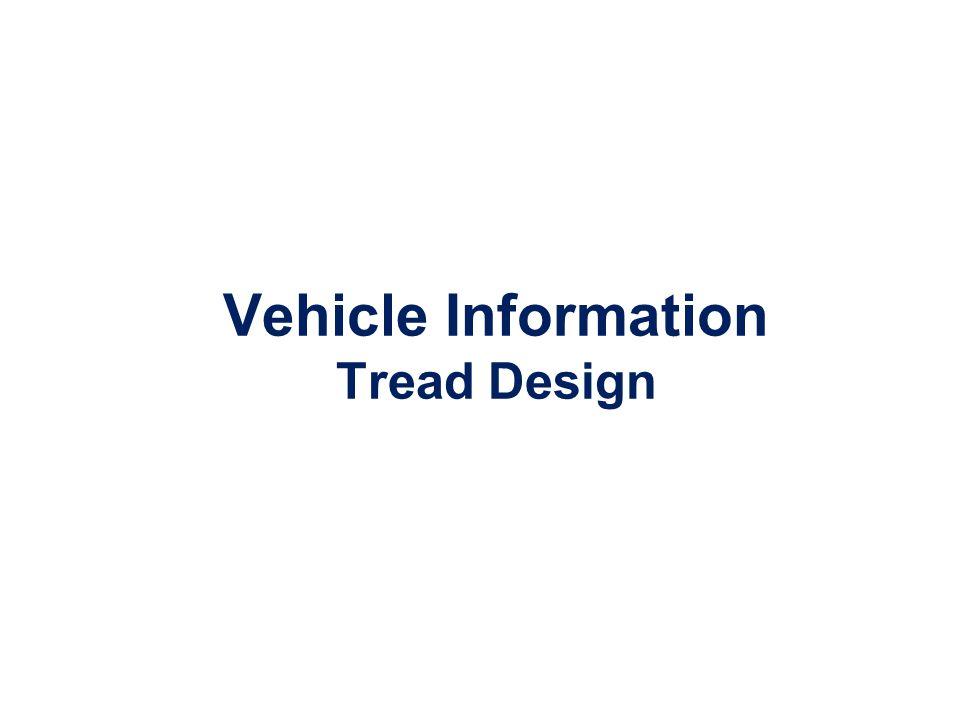 Vehicle Information Tread Design