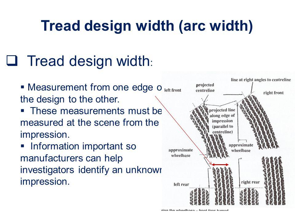 Tread design width (arc width)