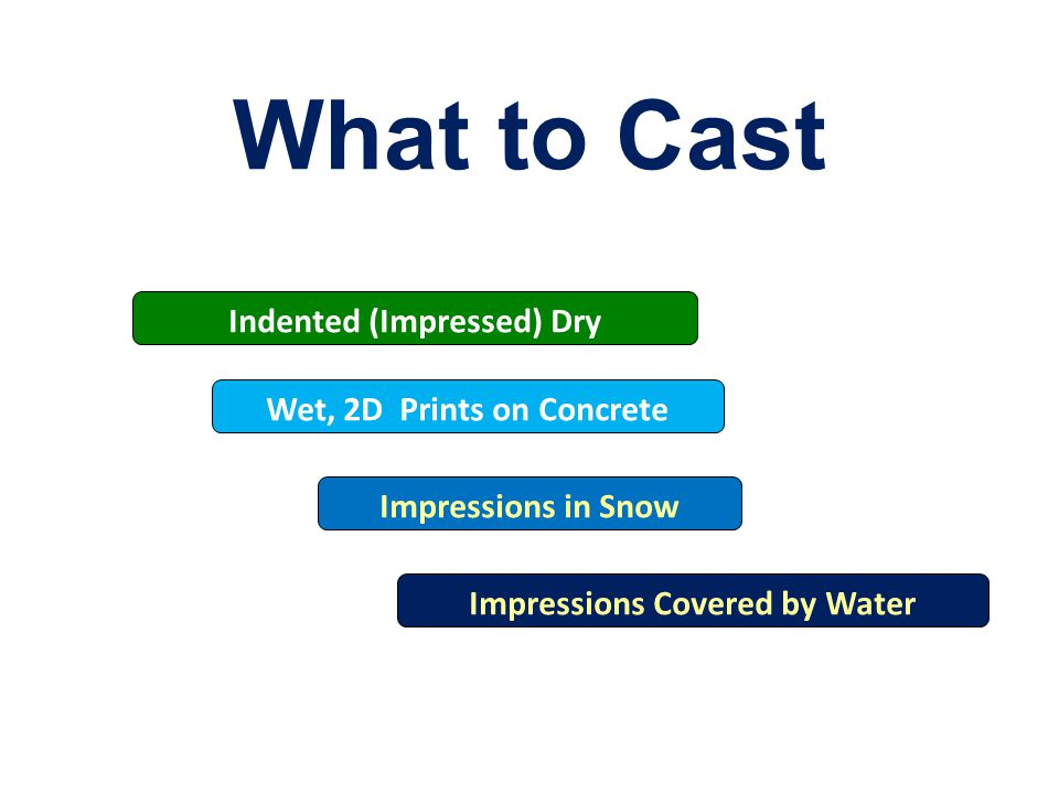 What to Cast Indented (Impressed) Dry Impressions