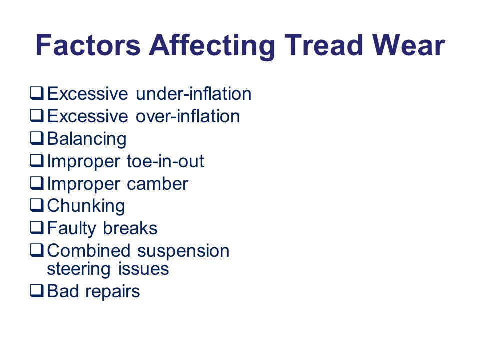 Factors Affecting Tread Wear