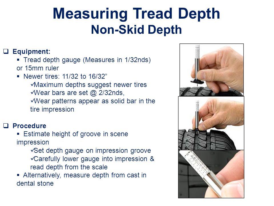 Measuring Tread Depth Non-Skid Depth Equipment: