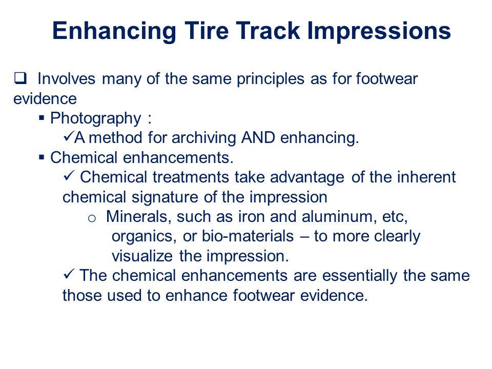 Enhancing Tire Track Impressions