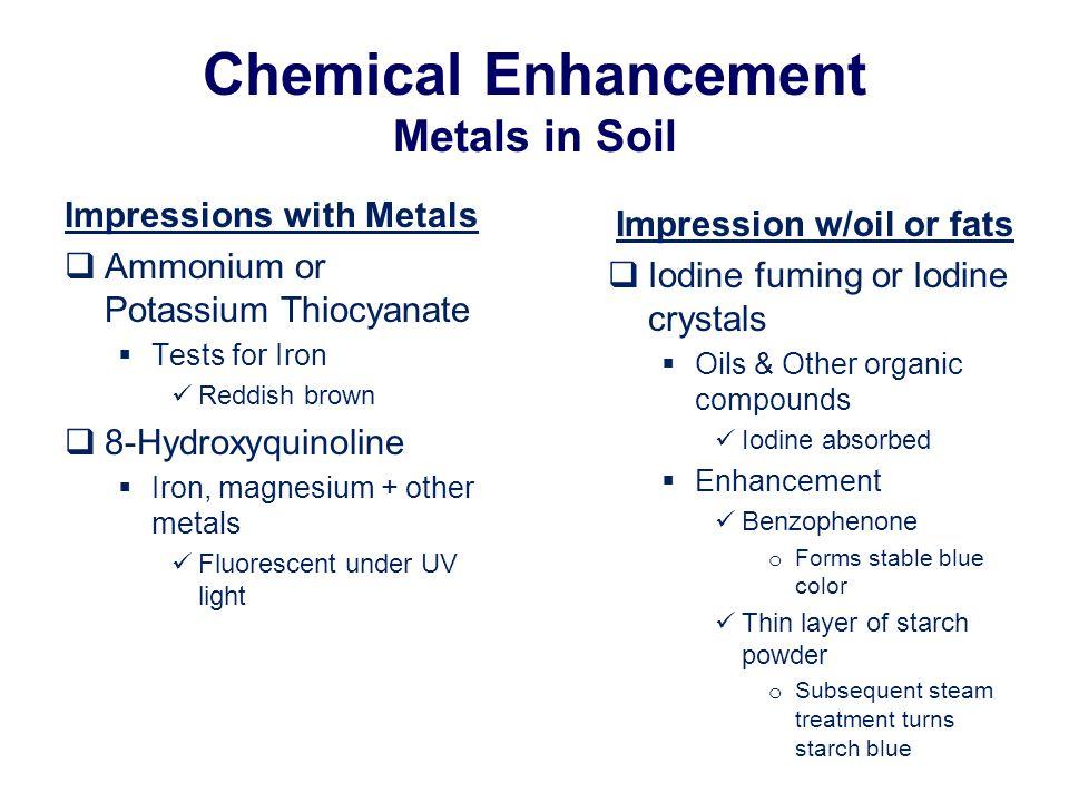 Chemical Enhancement Metals in Soil