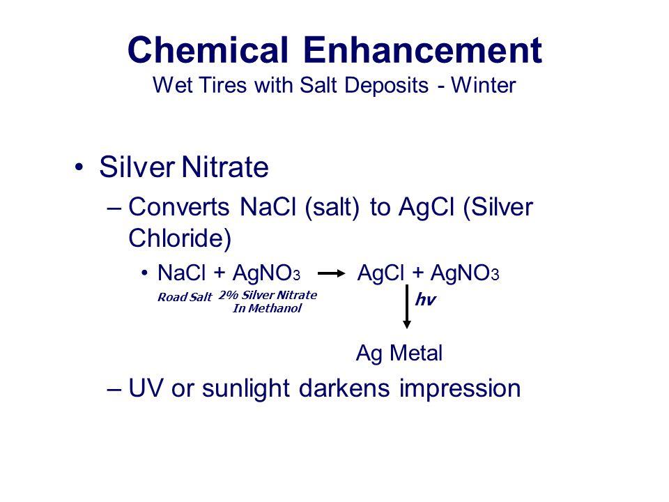 Chemical Enhancement Wet Tires with Salt Deposits - Winter