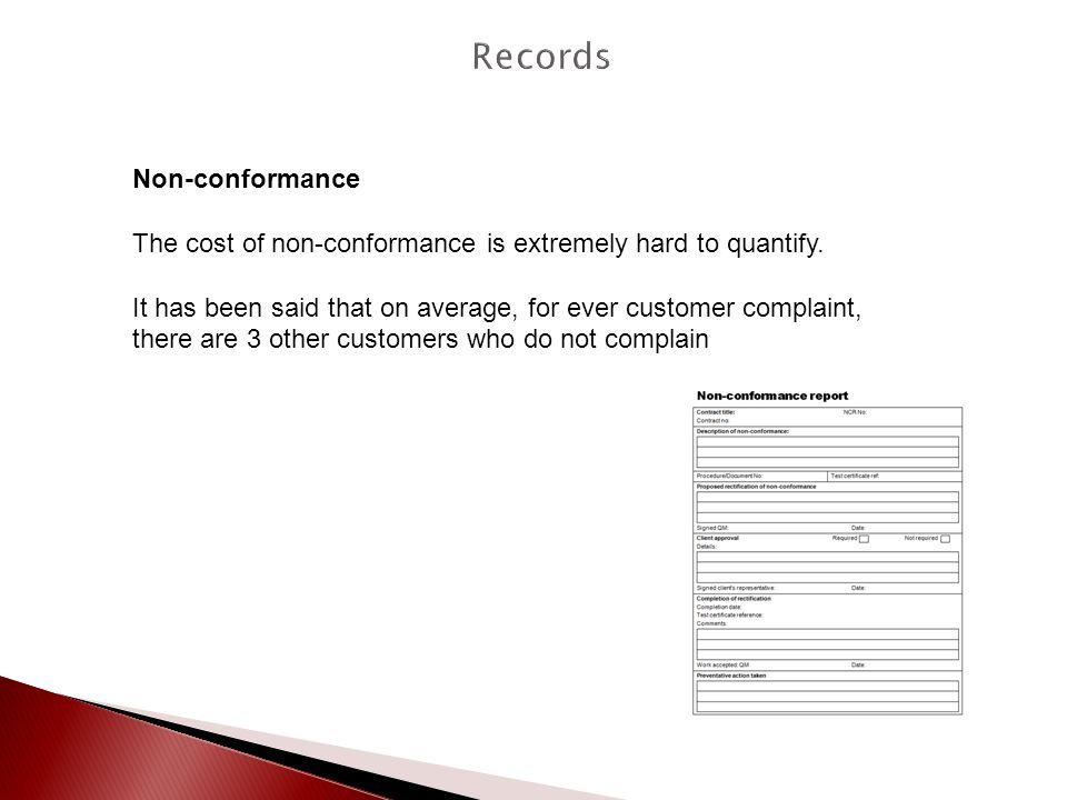 Records Non-conformance