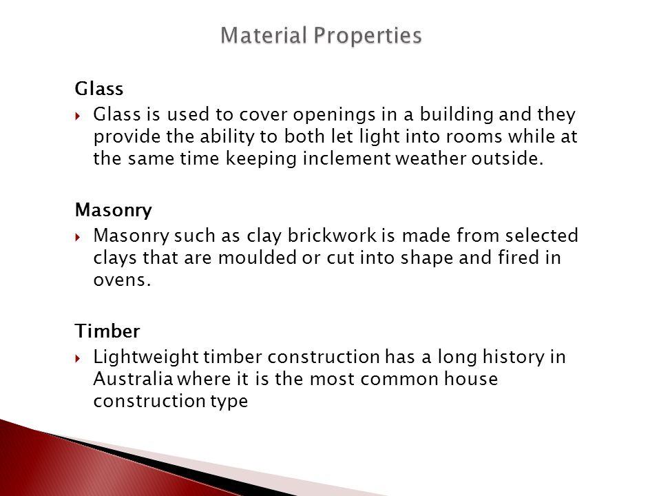 Material Properties Glass