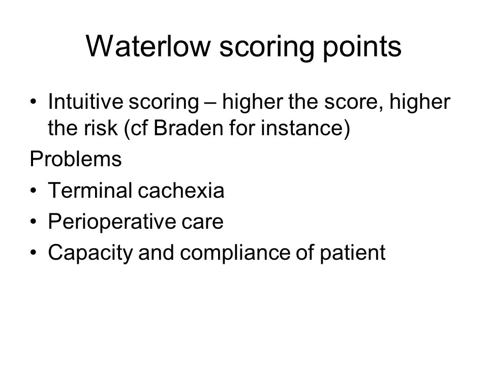 Waterlow scoring points