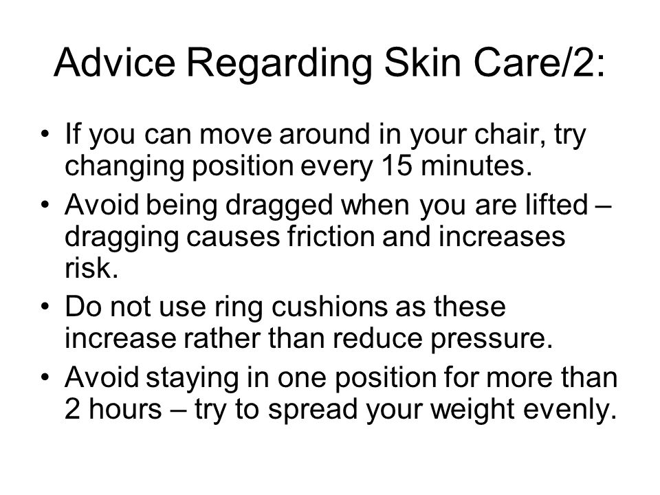 Advice Regarding Skin Care/2: