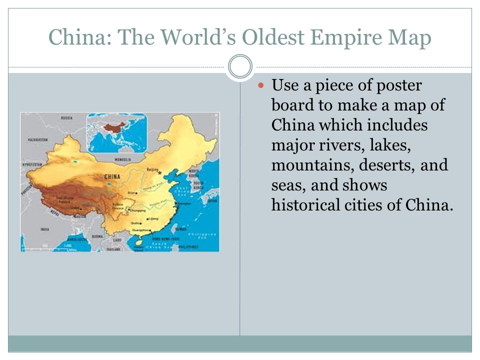 China: The World's Oldest Empire Map