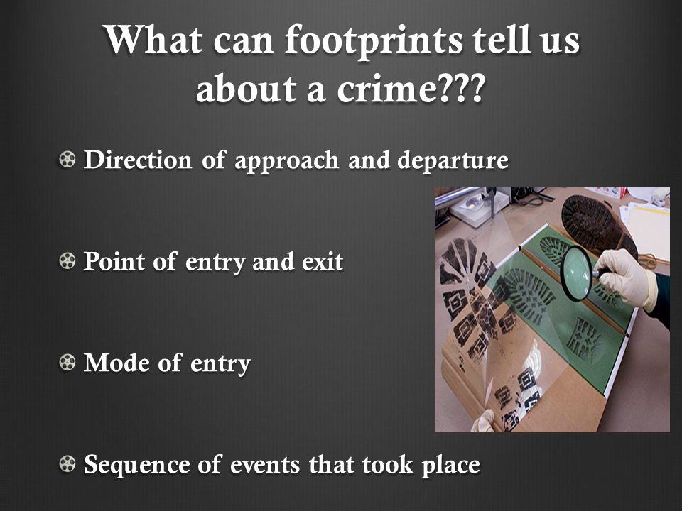 What can footprints tell us about a crime