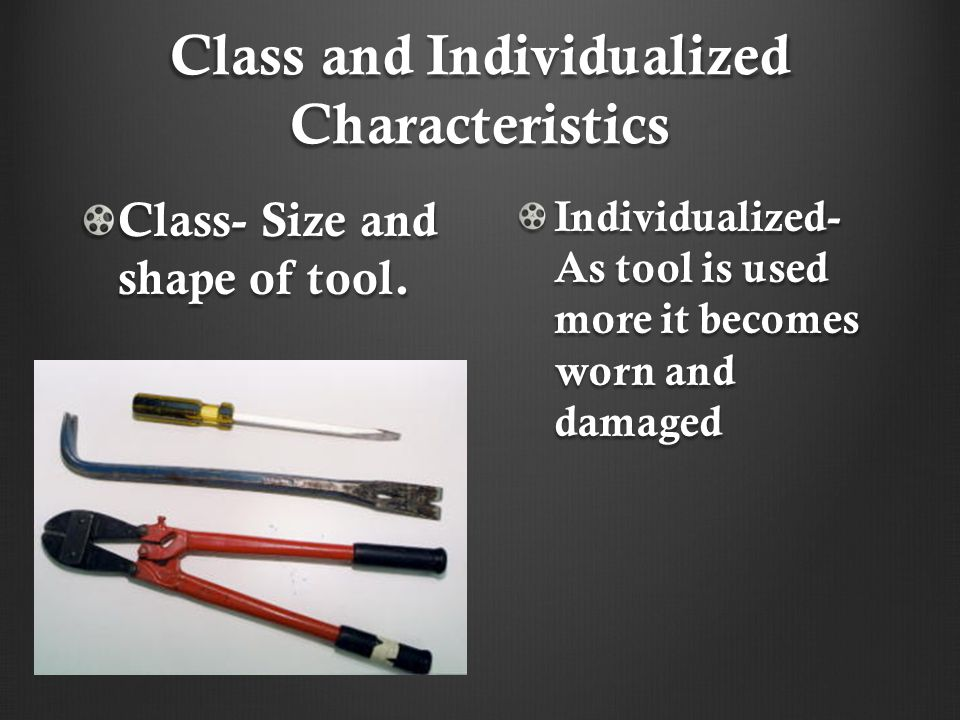 Class and Individualized Characteristics