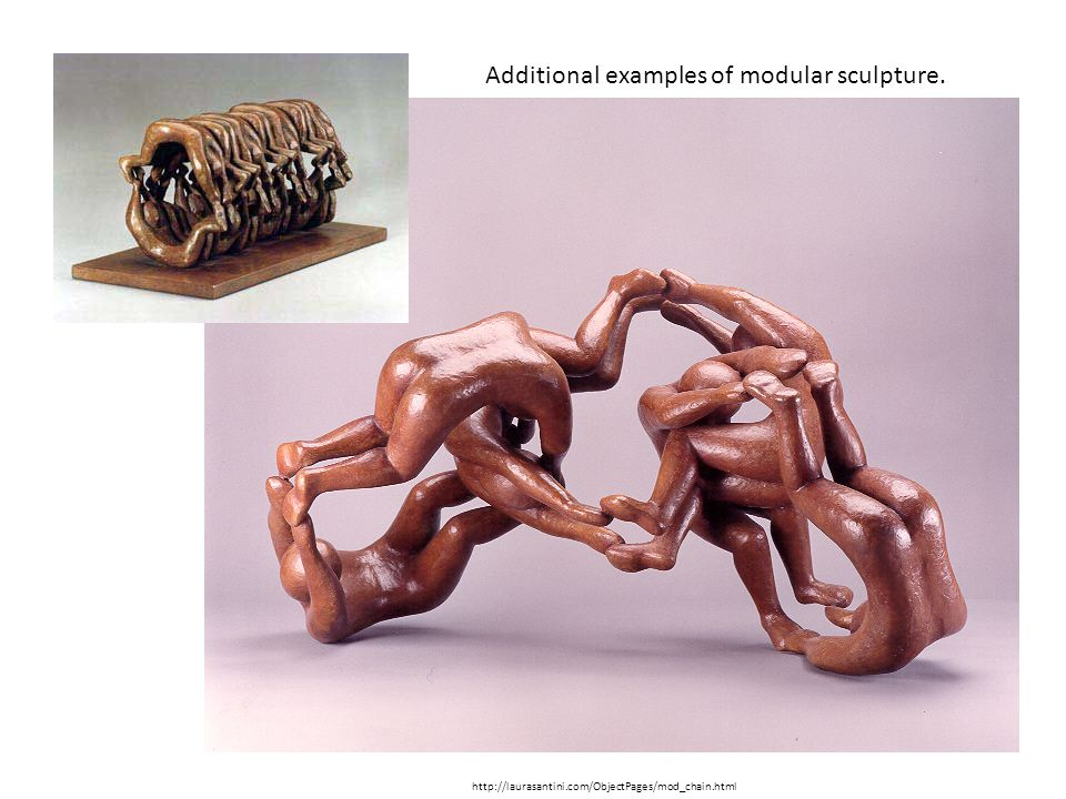 Additional examples of modular sculpture.