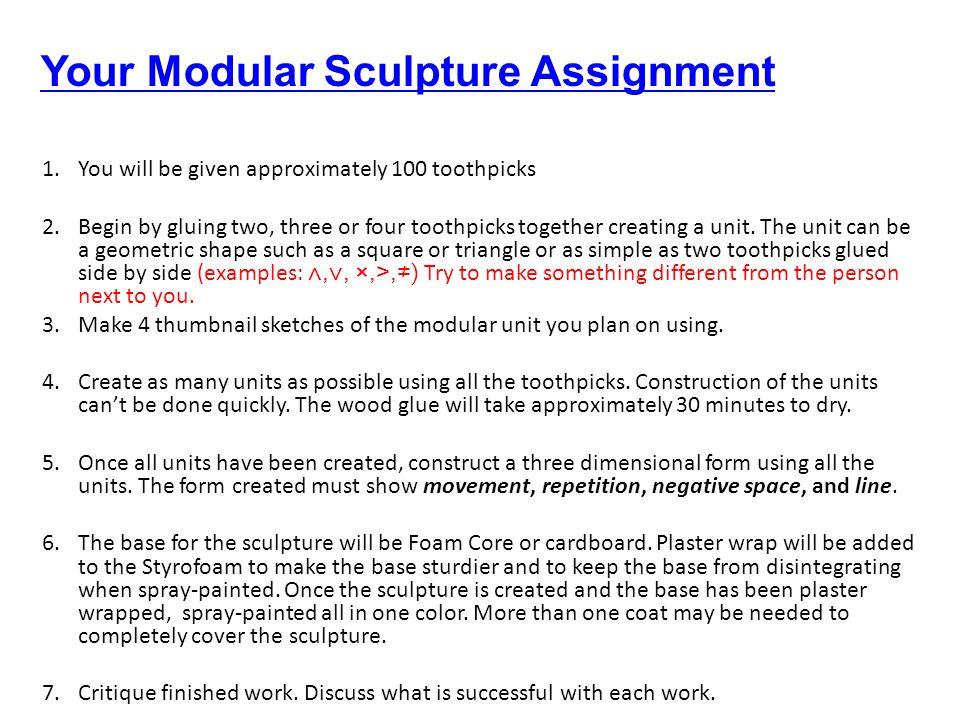 Your Modular Sculpture Assignment