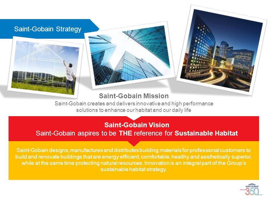 Saint-Gobain aspires to be THE reference for Sustainable Habitat