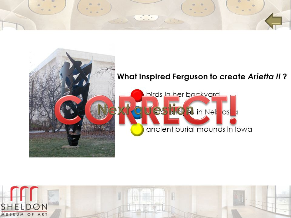 CORRECT! Next question What inspired Ferguson to create Arietta II