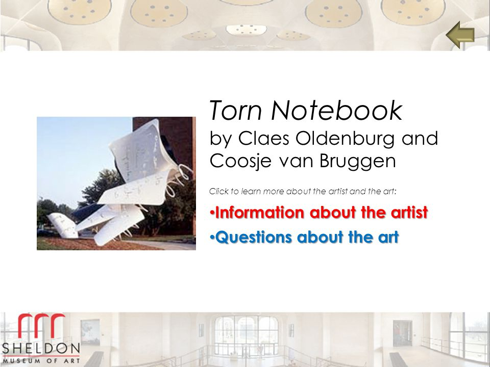 Torn Notebook by Claes Oldenburg and Coosje van Bruggen