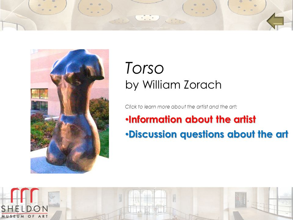 Torso by William Zorach Information about the artist