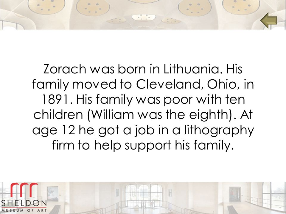 Zorach was born in Lithuania