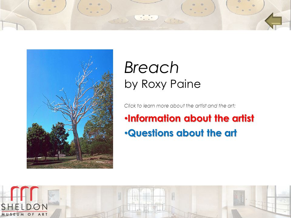 Breach by Roxy Paine Information about the artist