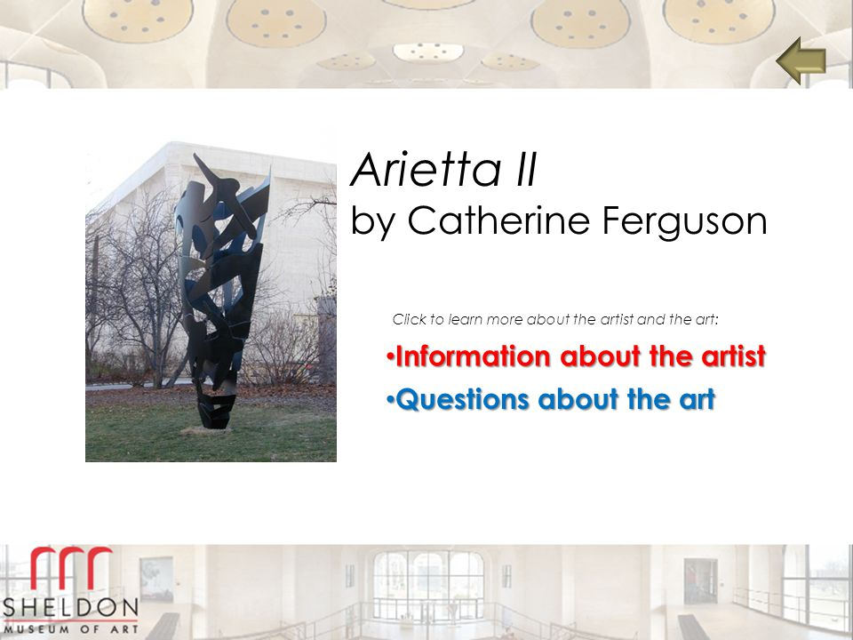 Arietta II by Catherine Ferguson Information about the artist