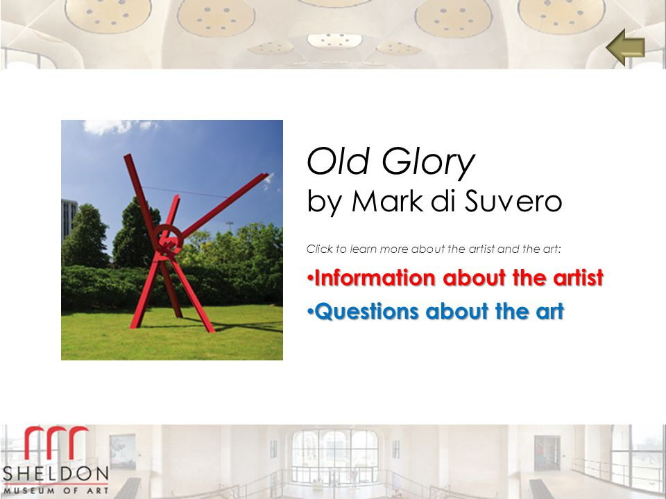 Old Glory by Mark di Suvero Information about the artist