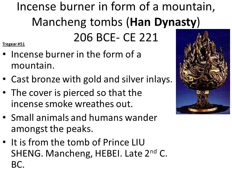 Incense burner in form of a mountain, Mancheng tombs (Han Dynasty) 206 BCE- CE 221