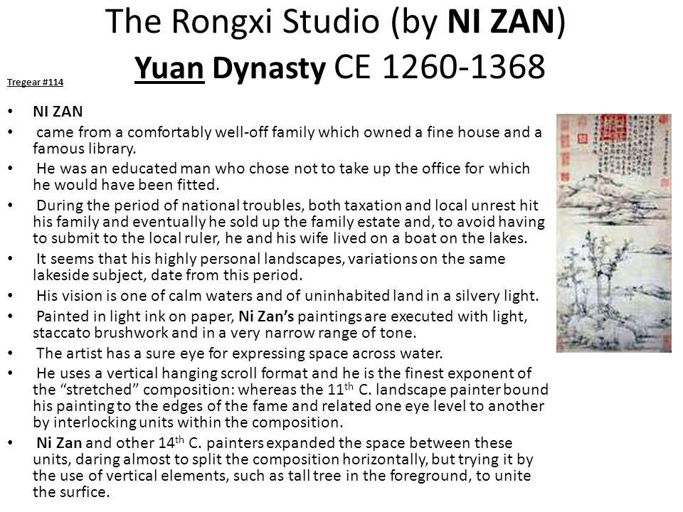 The Rongxi Studio (by NI ZAN) Yuan Dynasty CE 1260-1368