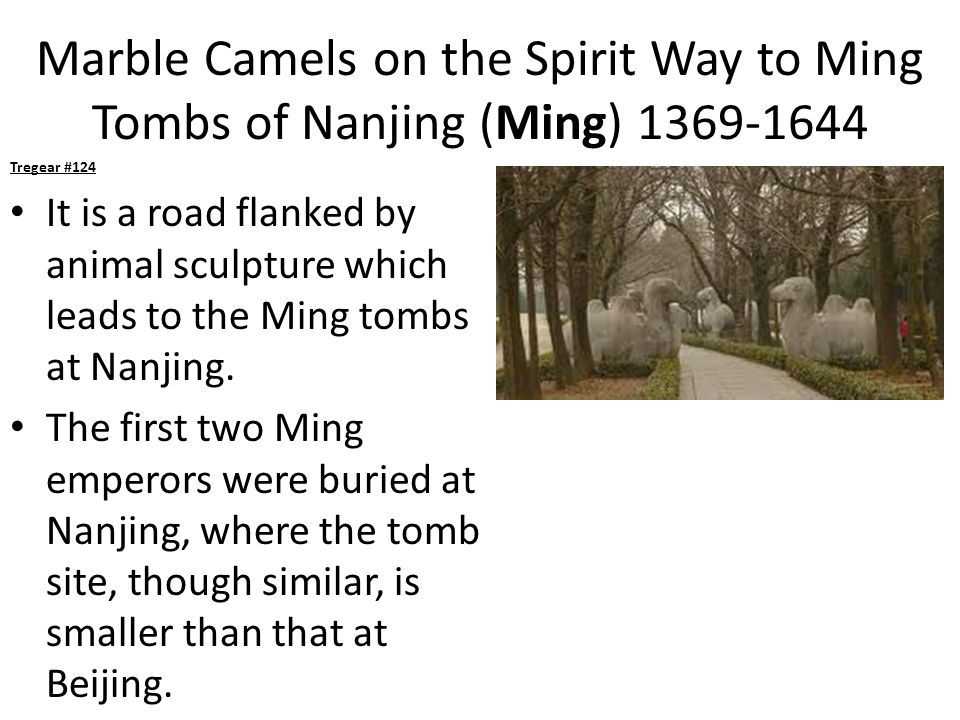 Marble Camels on the Spirit Way to Ming Tombs of Nanjing (Ming) 1369-1644