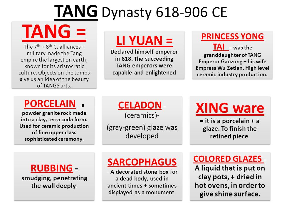 TANG Dynasty 618-906 CE