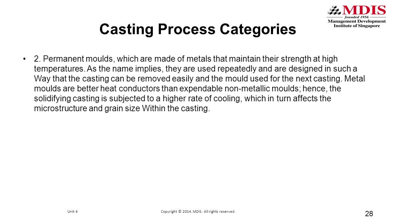 Casting Process Categories