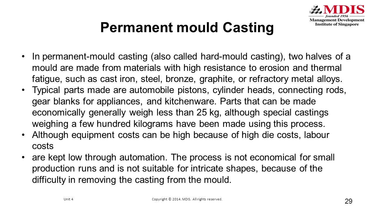 Permanent mould Casting