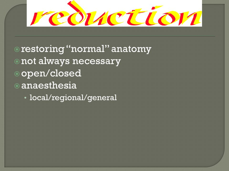 restoring normal anatomy not always necessary open/closed
