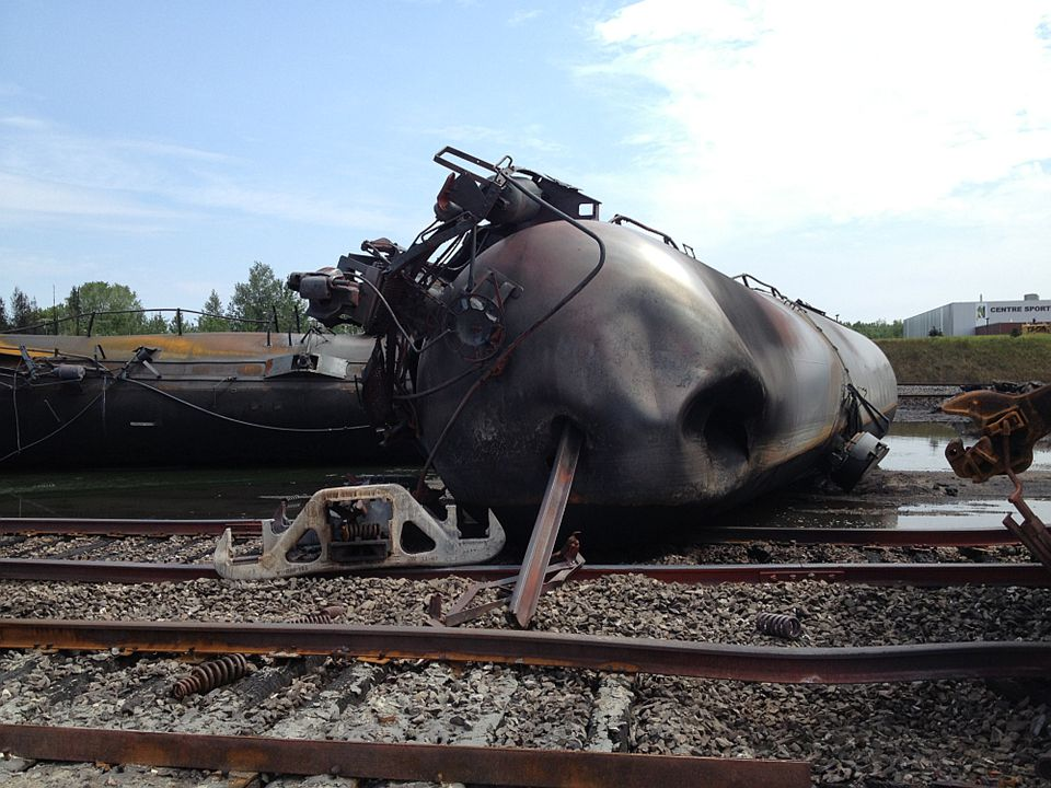 Tank Car punctured by rail