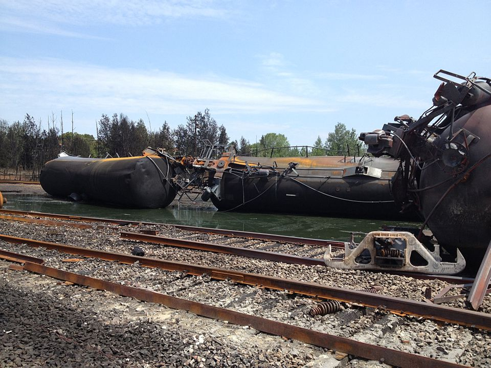 Overturned Tank Cars