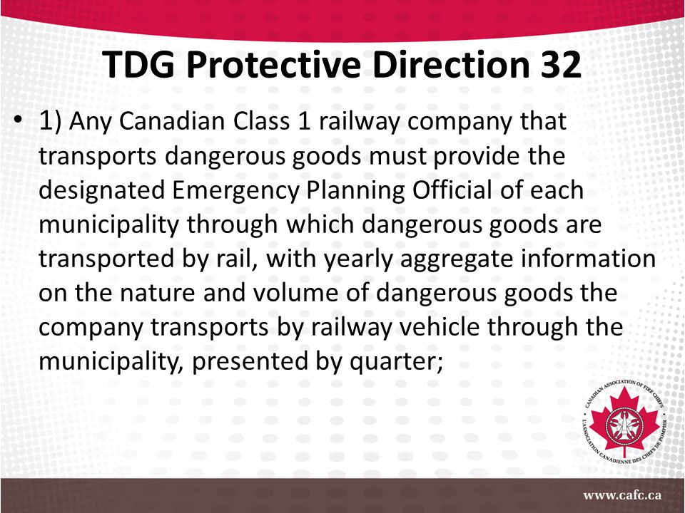 TDG Protective Direction 32