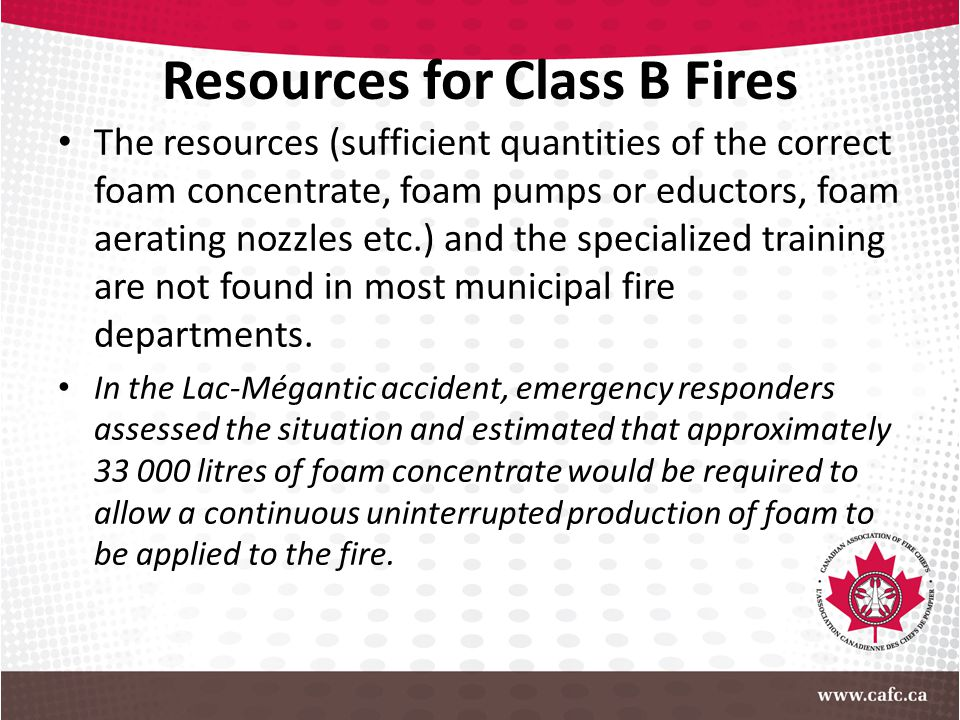 Resources for Class B Fires