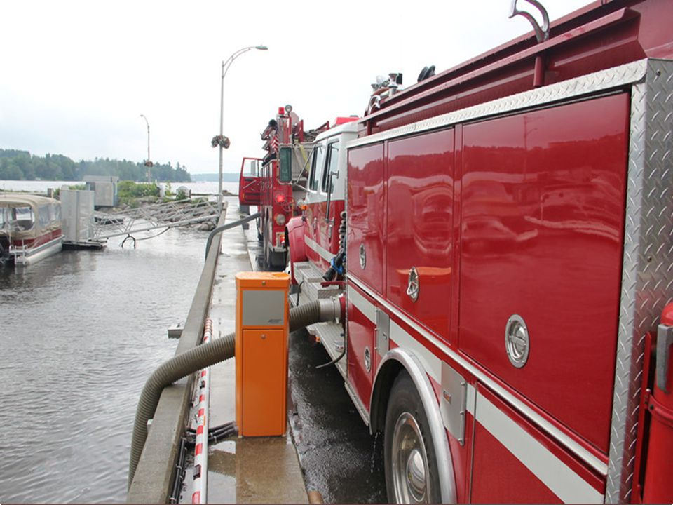 Mutual Aid drafting water from Lac Megantic – note U. S