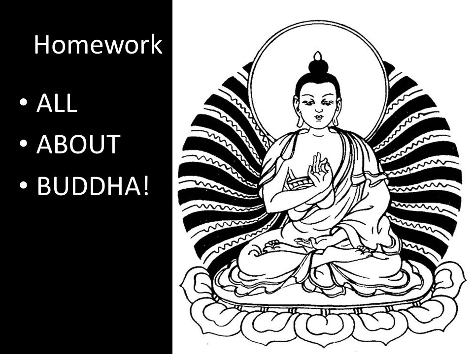 Homework ALL ABOUT BUDDHA!