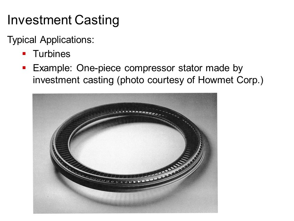 Investment Casting Typical Applications: Turbines
