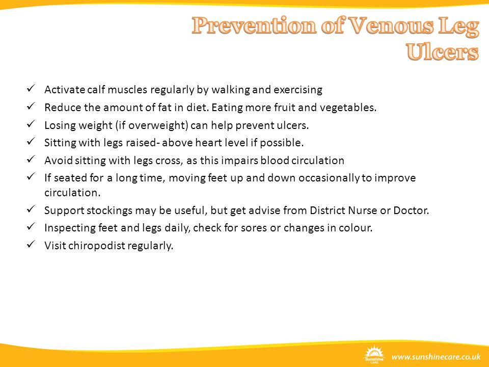 Prevention of Venous Leg Ulcers
