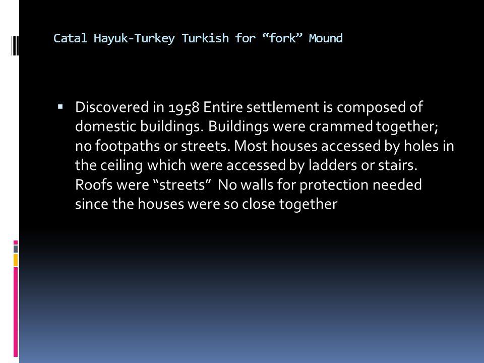 Catal Hayuk-Turkey Turkish for fork Mound