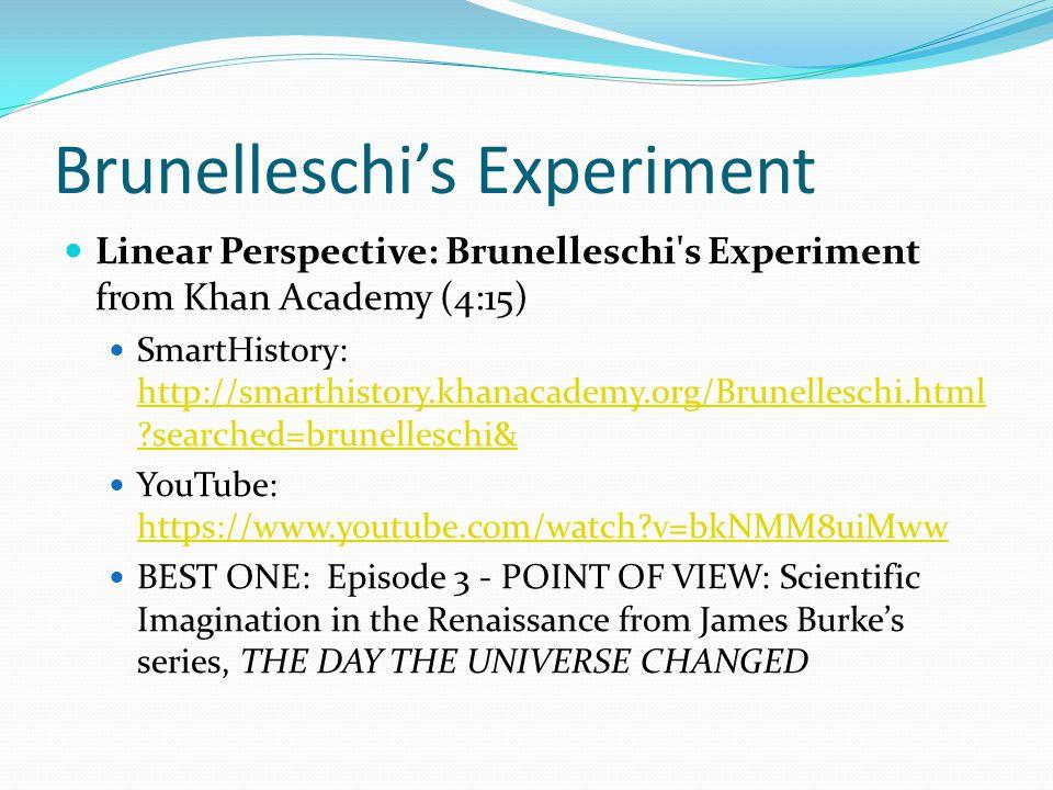 Brunelleschi's Experiment